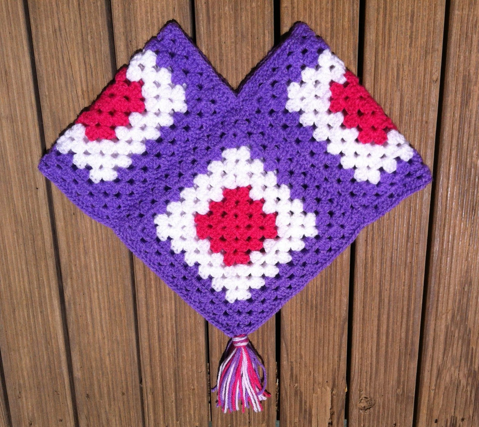 easy granny square kids ponho | Funky Bugs - crochet adventures and ...