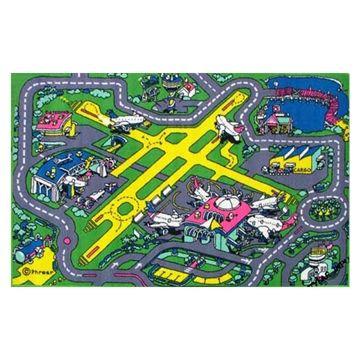 Airport Plane Car Road Mat Kids Rugsplay Matscarkid Activitieschildrens