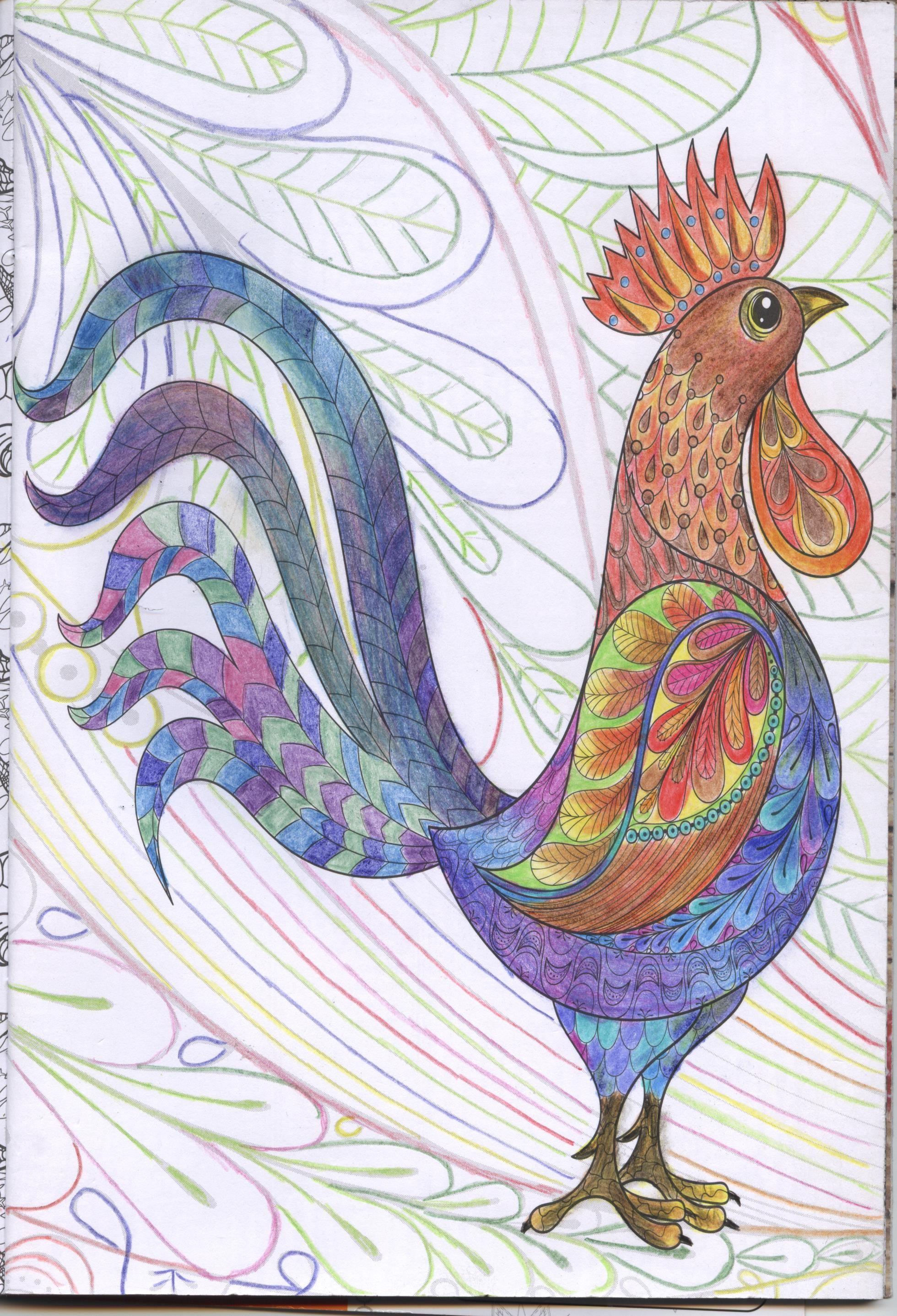 Coq mandala · ColoriagesMandalas