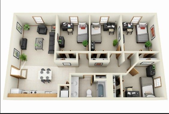 Simple 4 Bedroom House Designs Apartment Floor Plans 4 Bedroom House Designs House Layout Plans