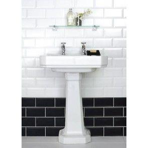 Cheap white for top bathroom Bevelled White Gloss Wall Tile - Tile Giant 39p each