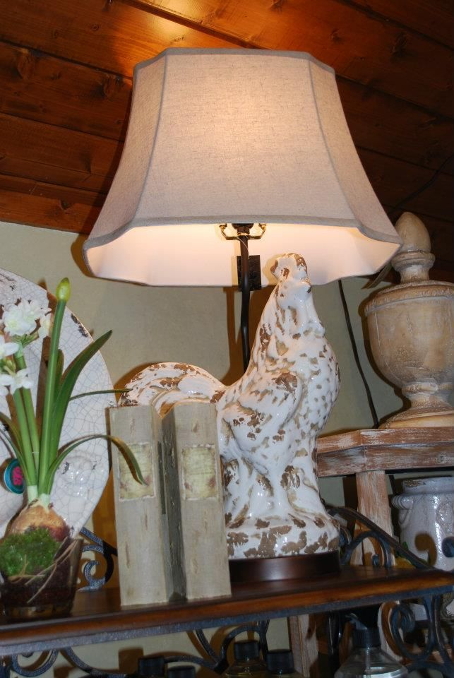 Nothing Say French Country Like A Rooster Lamp Available At Razzberries 828 327 3123 Country Lamps French Country Decorating Rooster Decor