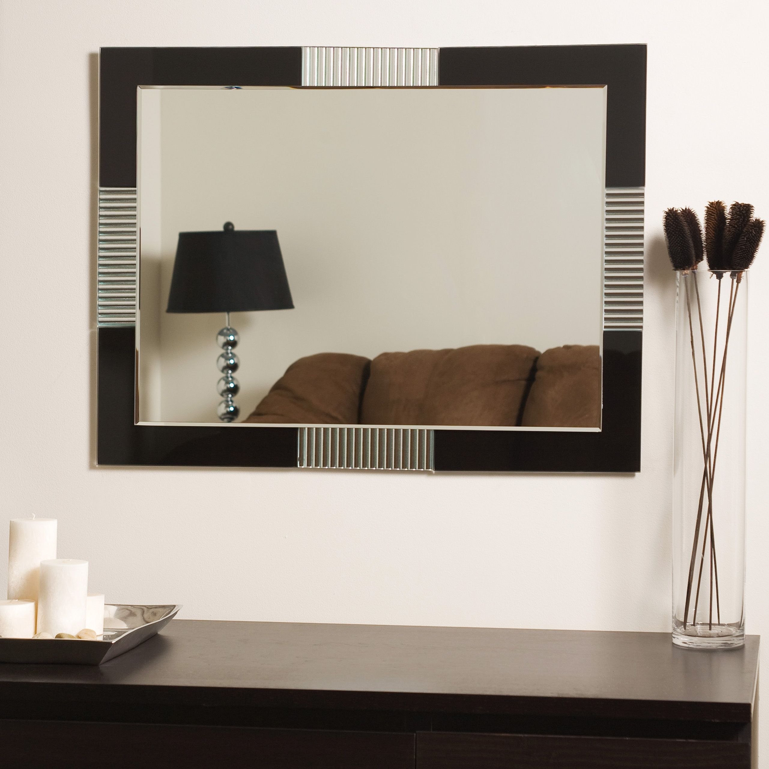 Francisco Large Frameless Wall Mirror Httpdrrw Pinterest