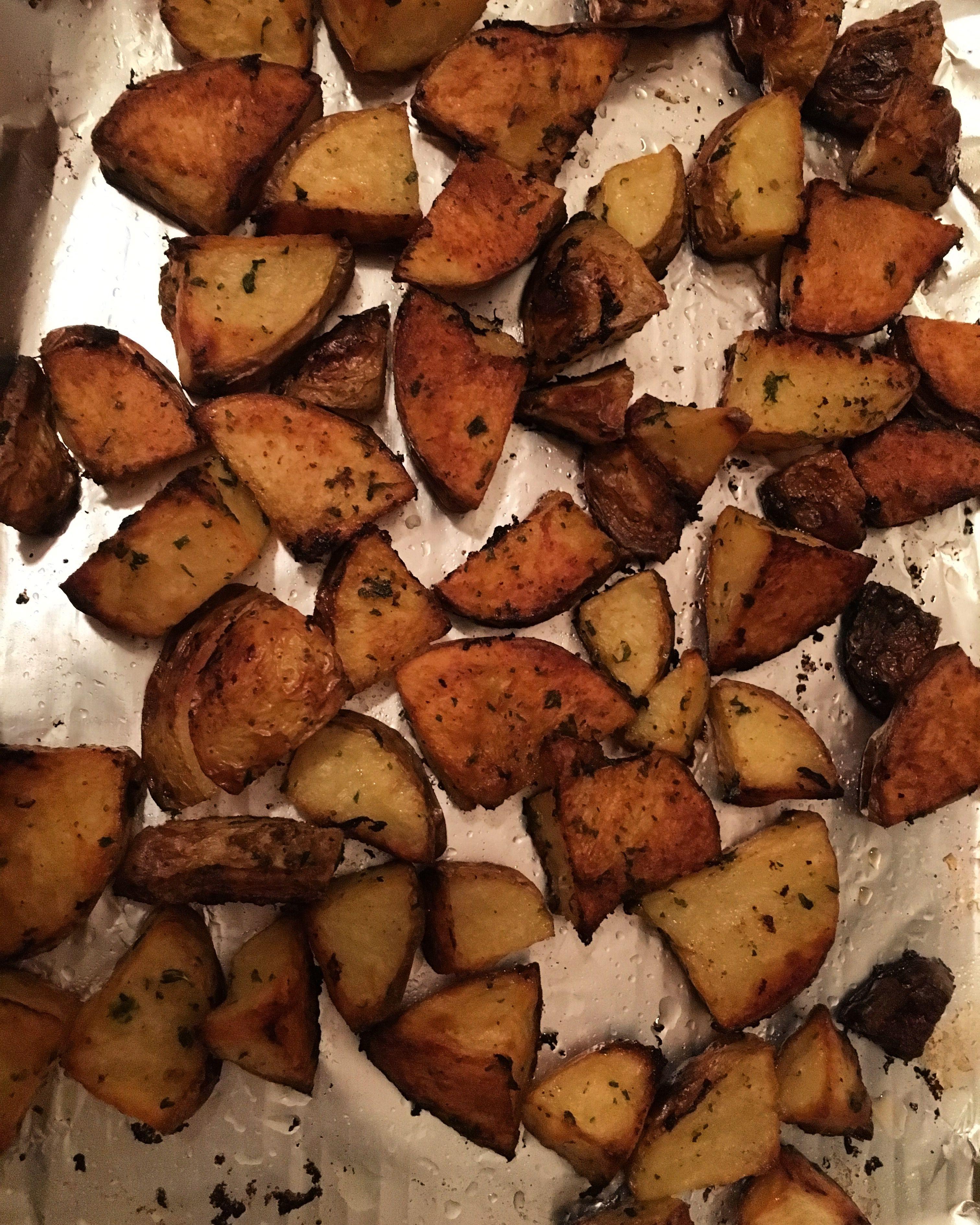Oven Roasted Potatoes - Dads secret recipe