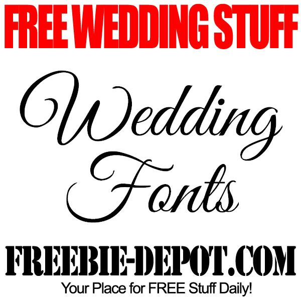 Free wedding stuff fonts wedding diy on line supplies coupons free wedding stuff fonts junglespirit Image collections