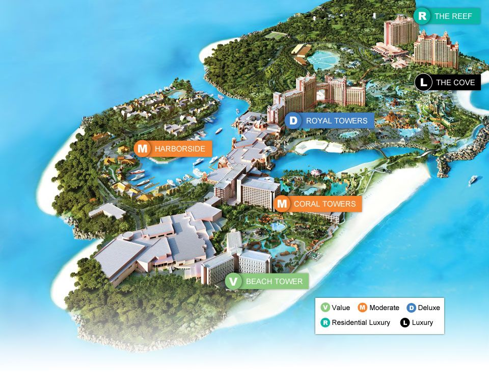 Map Of Paradise Island Our Honeymoon Atlantis Resort