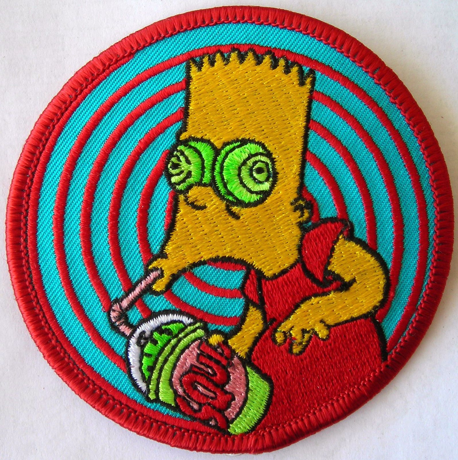 Simpsons Homer Simpson Naked with Hat Embroidered Patch NEW UNUSED
