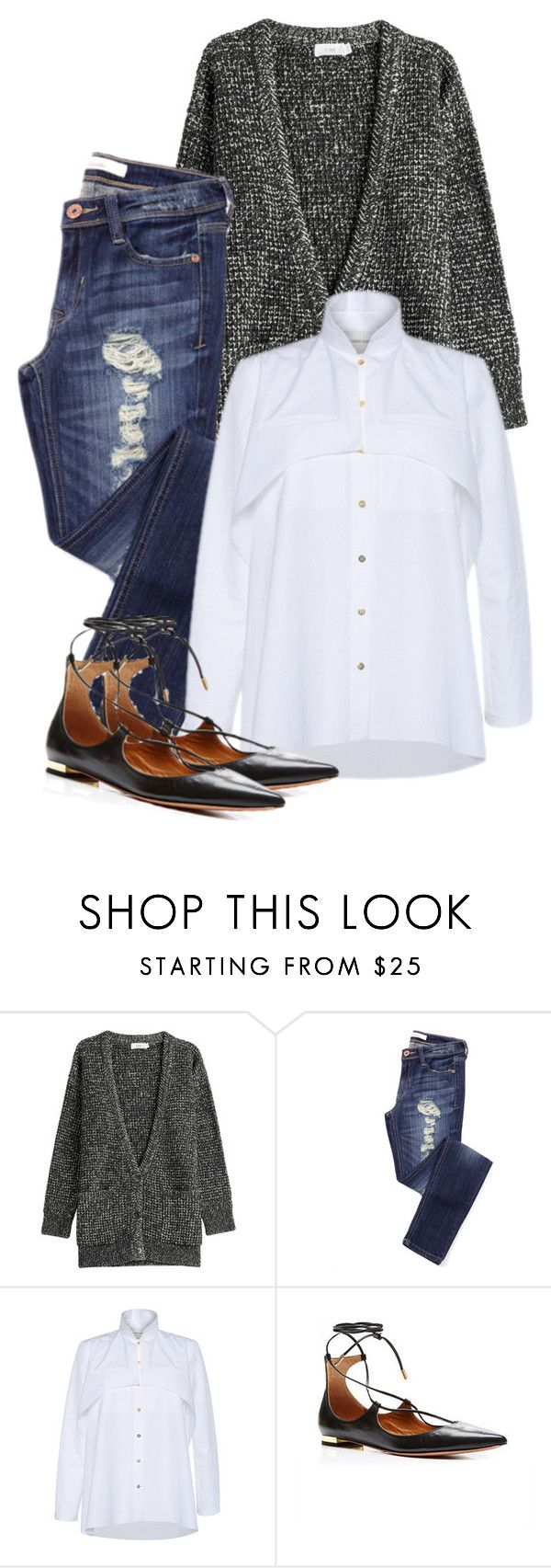 """Jeans"" by cherieaustin ❤ liked on Polyvore featuring Closed, Maison Rabih Kayrouz, Aquazzura, women's clothing, women, female, woman, misses and juniors"
