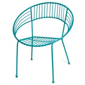 Round Metal Chair In Turquoise Skalny Metal Chairs Burke