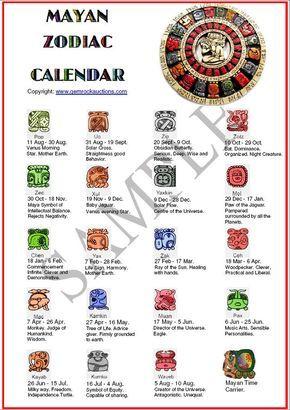Mayan zodiac calendar | Mayan zodiac, Zodiac calendar ...