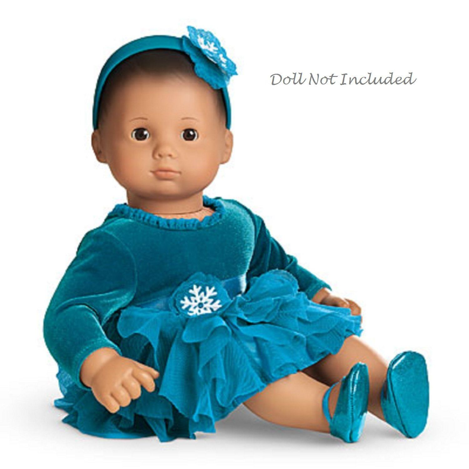 Amazon American Girl Bitty Baby Teal Tidings Dress for 15