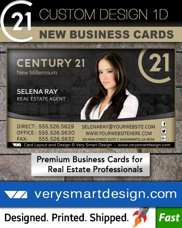 Pin On Century 21 Business Card Designs