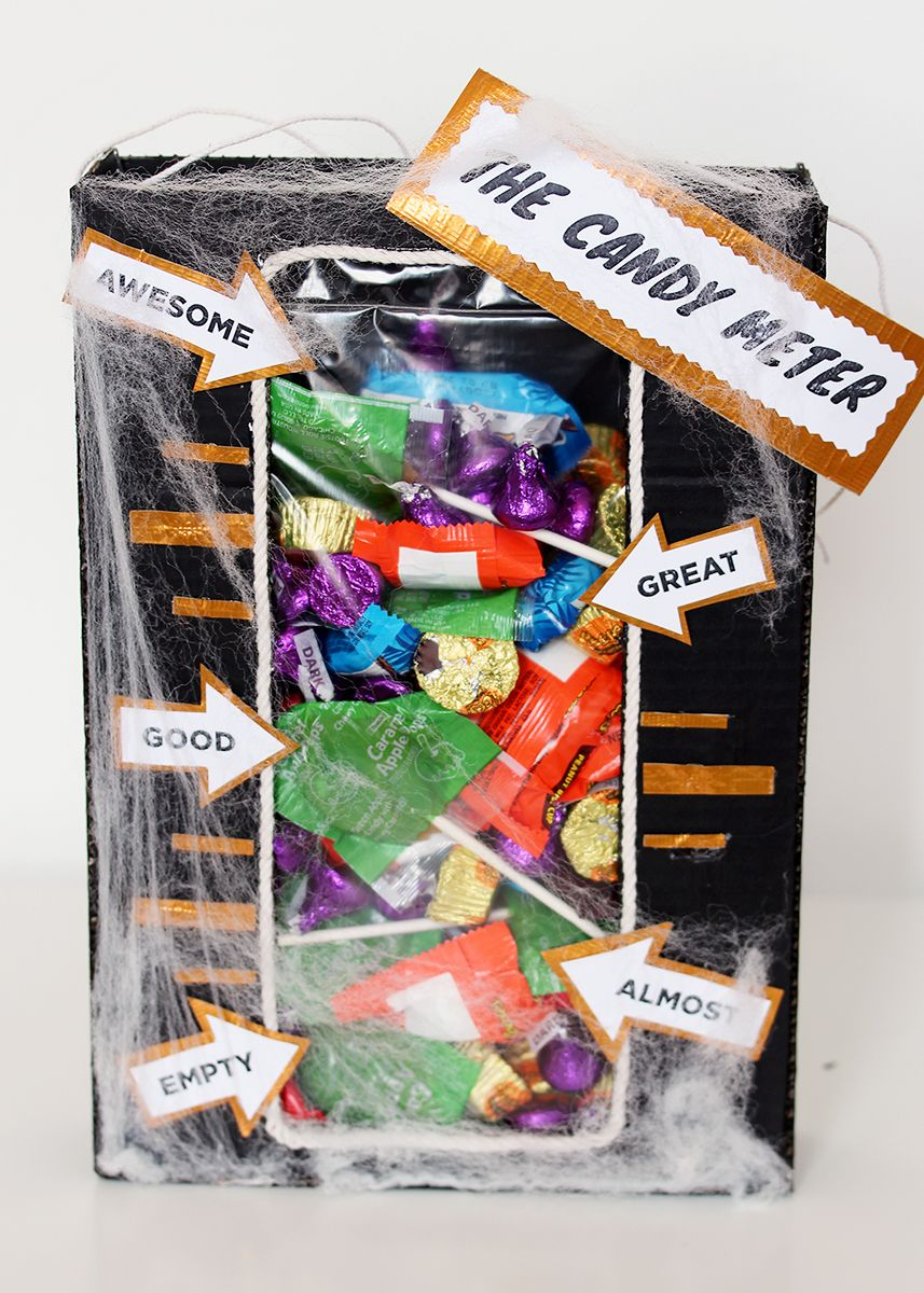The Candy Meter trick or treat bag! Check out the making-of video ...