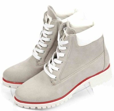 Damskie Botki Trapery Szare Buty Ae171 36 6942055895 Oficjalne Archiwum Allegro White Sneaker High Top Sneakers Top Sneakers