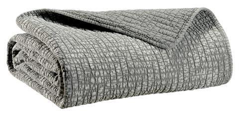 hbc couvre lit moderne 2 personnes sadi gris 230x250 cm couvre lit boutis moderne lin ou. Black Bedroom Furniture Sets. Home Design Ideas