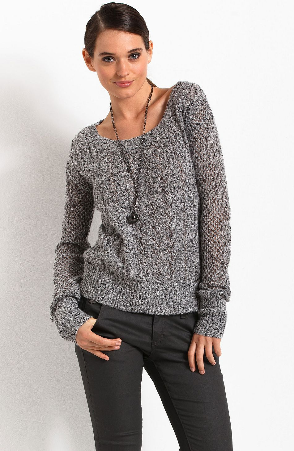 Cable Knit Sweater - Sweaters - Womens - Armani Exchange | Clothes ...