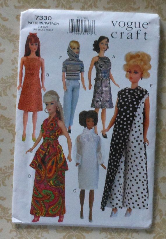 115 Fashion Doll Clothes Sewing Pattern Retro by latenightcoffee ...