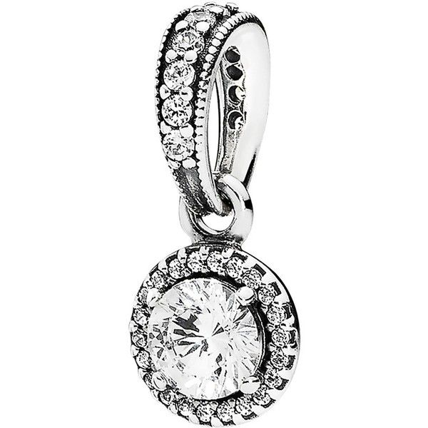 PANDORA 'Classic Elegance' Dangle Pendant ($65) ❤ liked on Polyvore featuring jewelry, pendants, pendant jewelry, bracelet charms, pendant bracelet, dangling jewelry and dangle charm bracelet