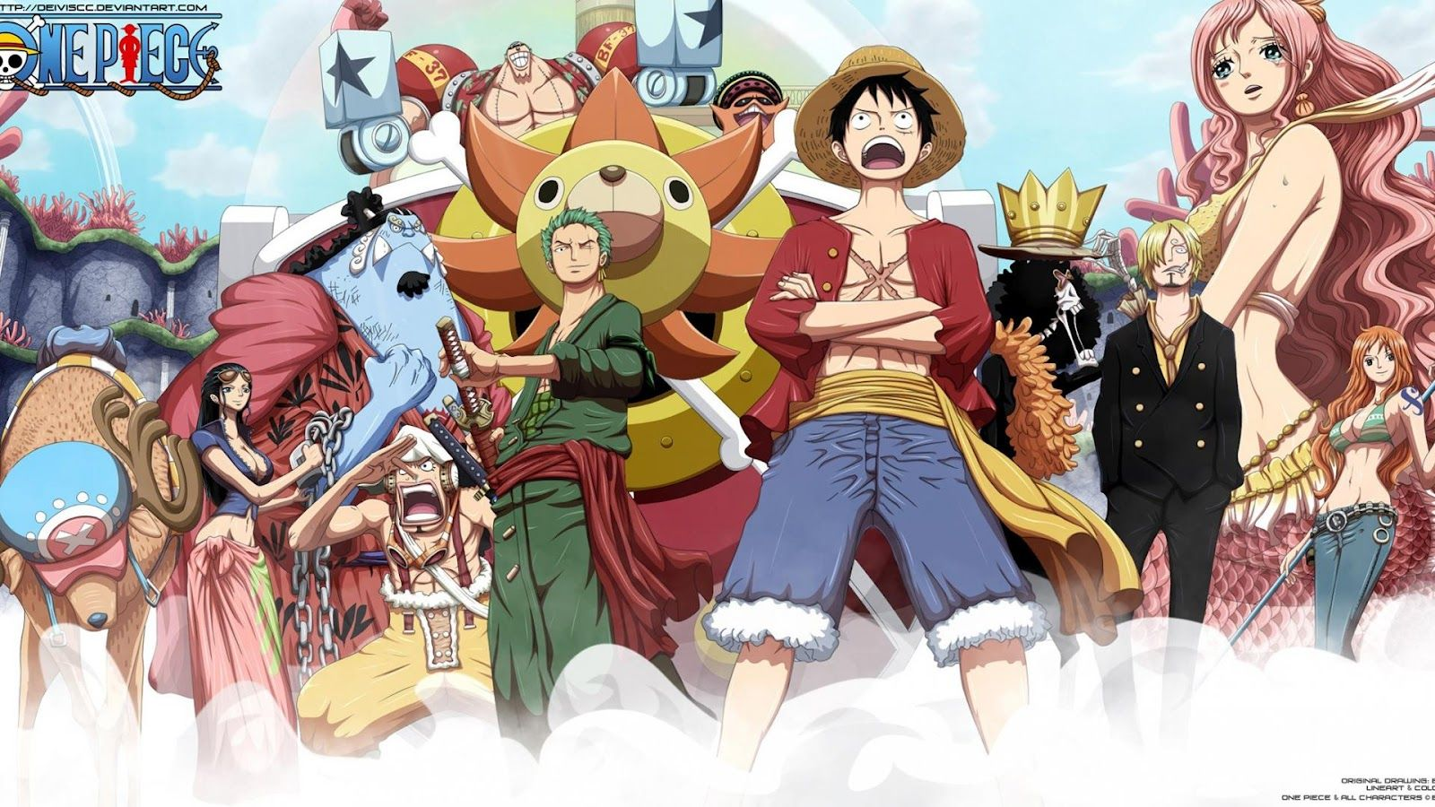 One Piece Wallpaper 1920x1080 New World Free Hd For Desktop Anime One Piece Episodes One Piece Anime