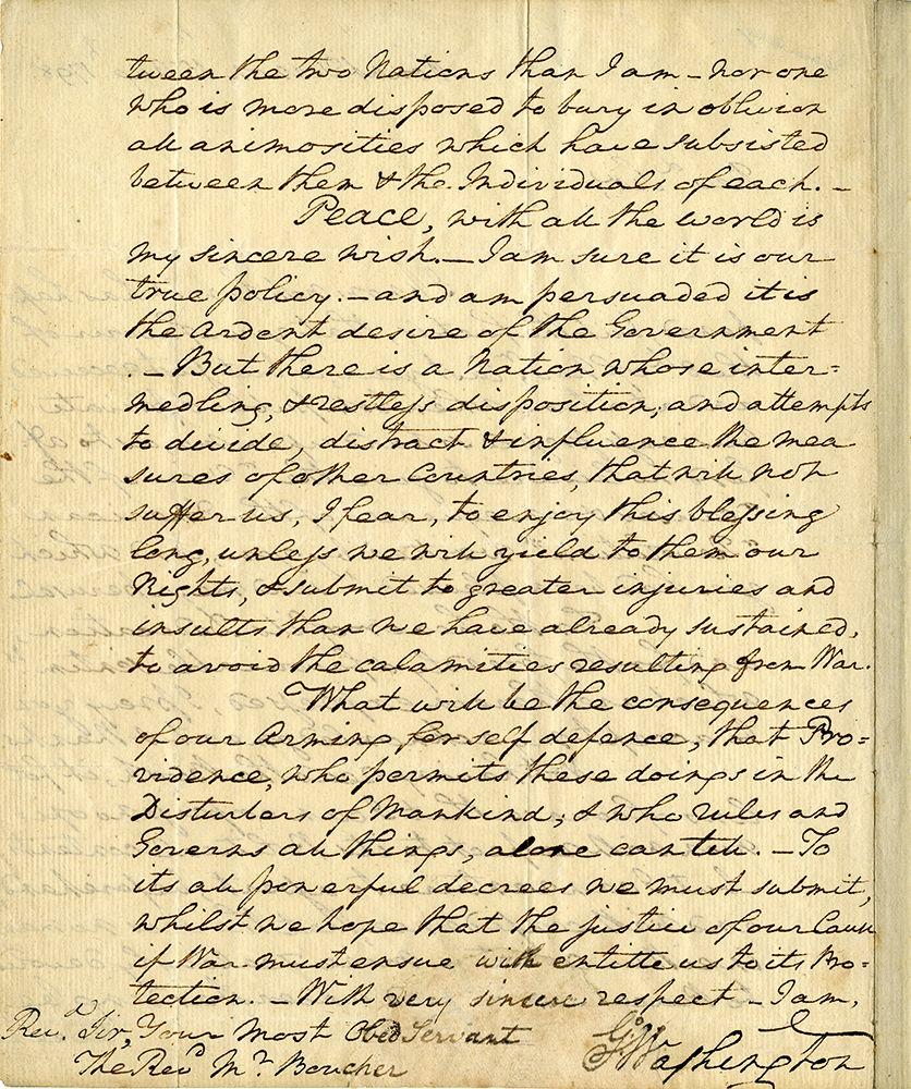 Extraordinary Autograph Letter Signed Go Washington