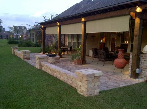 Same homeowner with his original design and diy back porch for Covered back porch designs