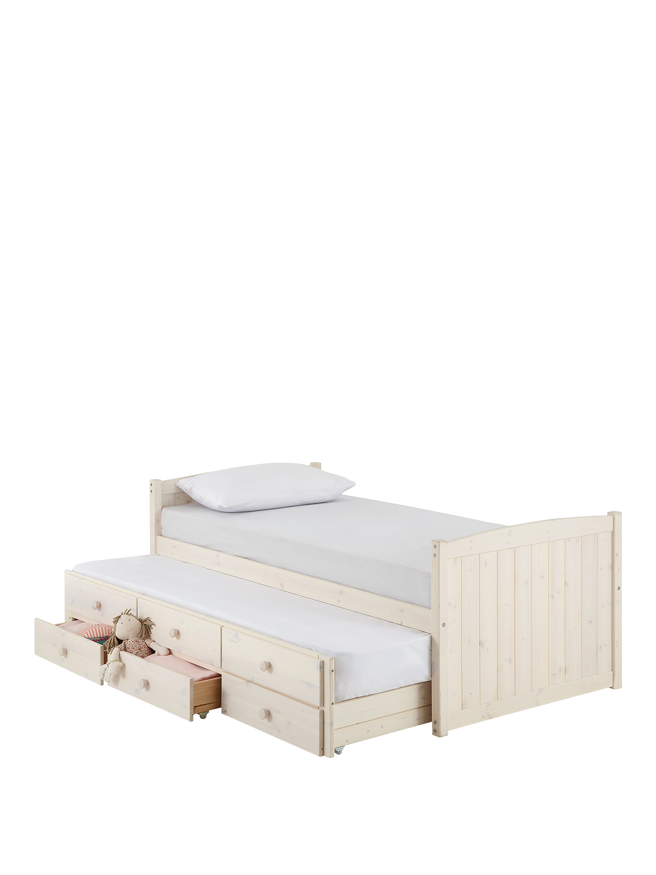 Single bed frame with drawers - Georgie Single Storage Bed With Pull Out Guest Bed