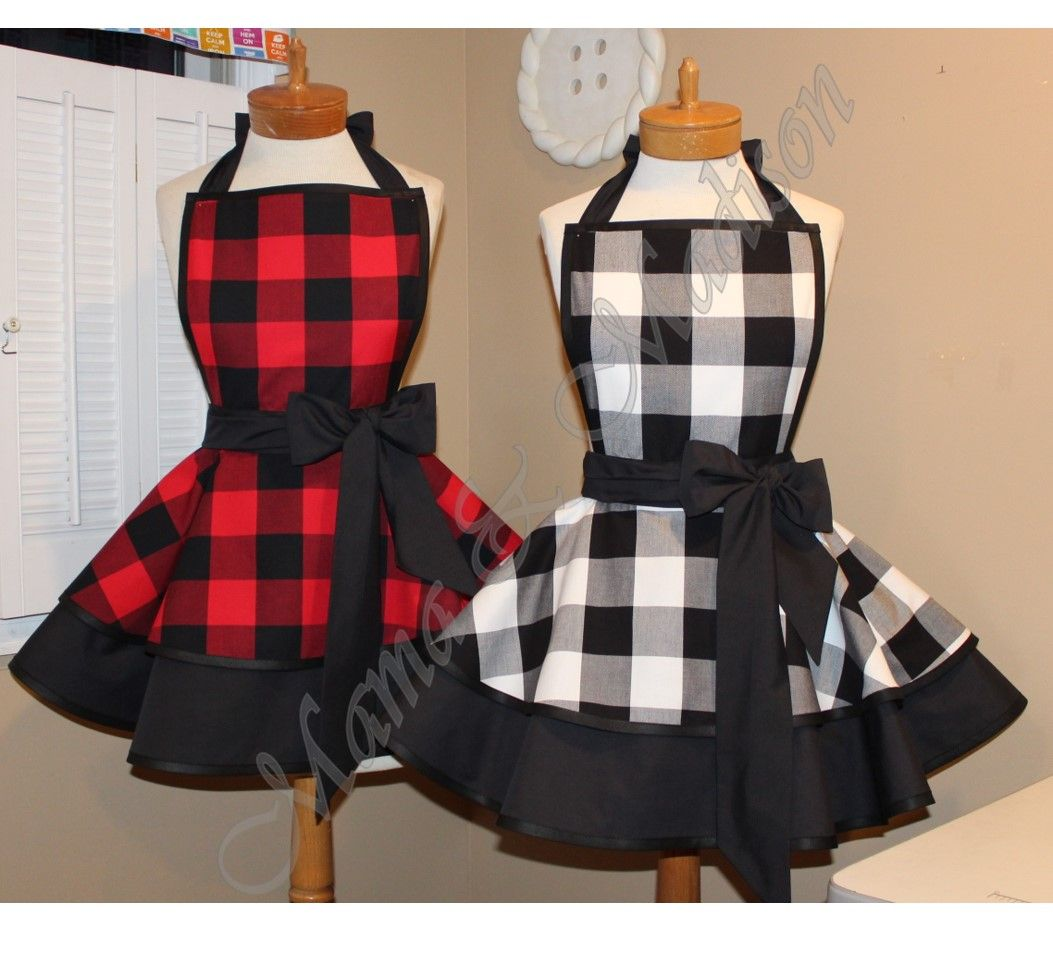 Mamamadison Custom Aprons Buffalo Plaid Now Available In Red Black Or White Black Order Today On Etsy Buffaloplaid C Plaid Fashion Cute Aprons Apron Designs