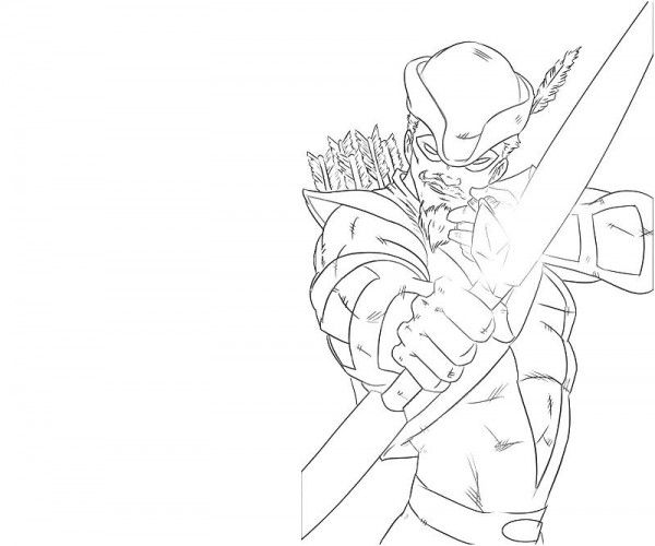 green arrow coloring pages # 8