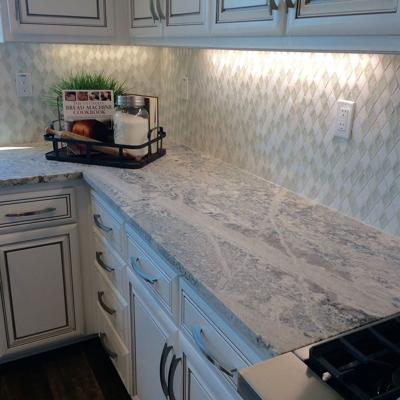 Arizona Tile Carries Monte Cristo In Natural Stone Granite Slabs Displaying White Silver Yellow Gold And Bluish Tones
