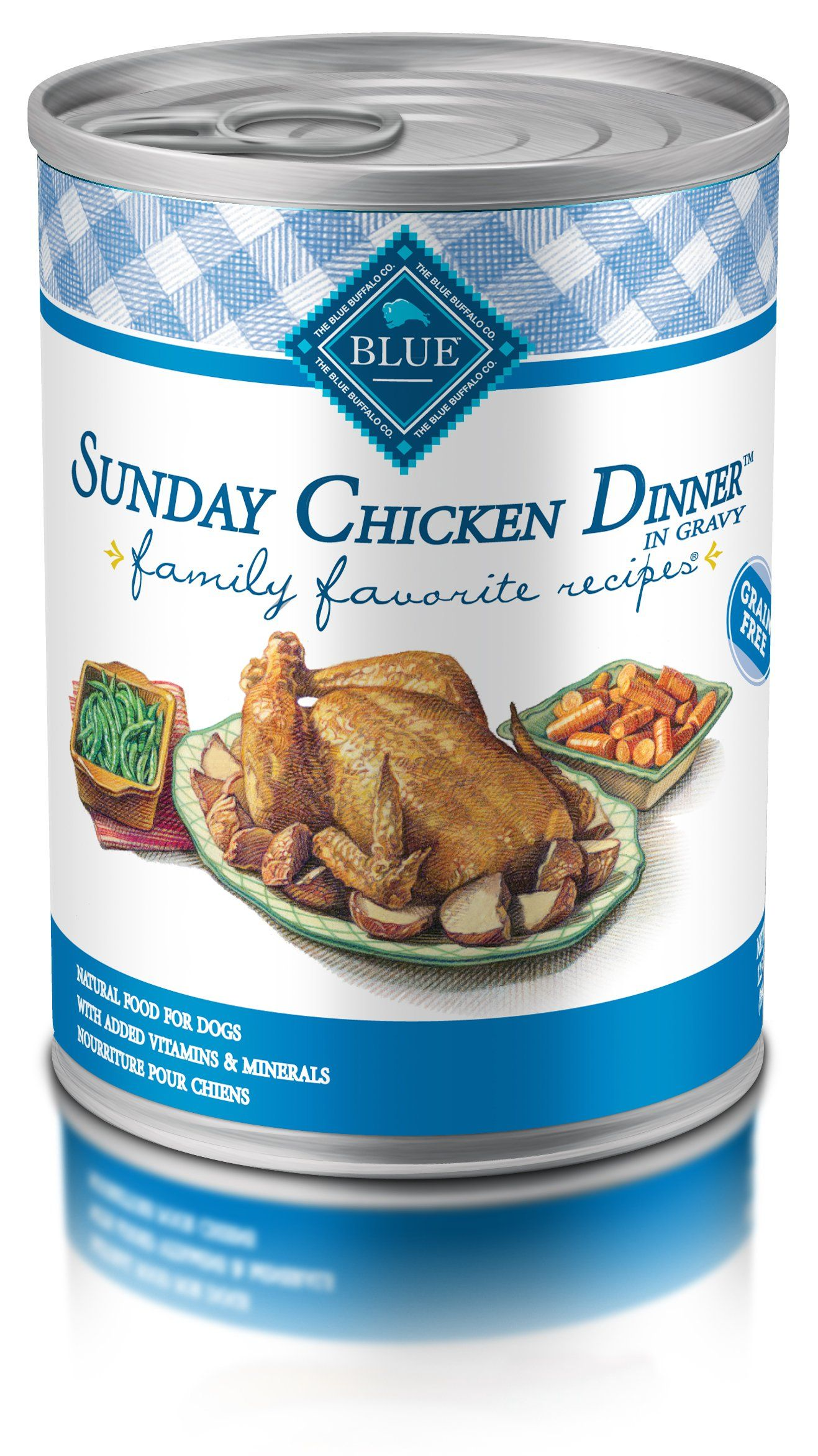 Blue family favorites adult sunday chicken wet dog food 12