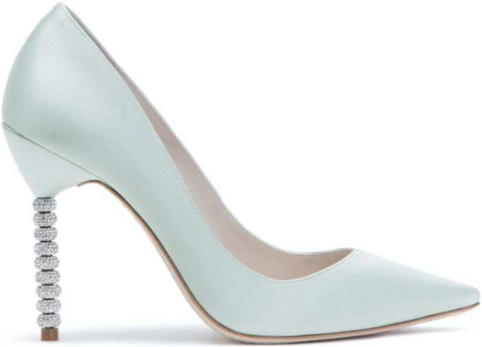 "825eaaec328d85 Sophia Webster ""Coco Crystal"" Pumps in Ice Blue Satin"