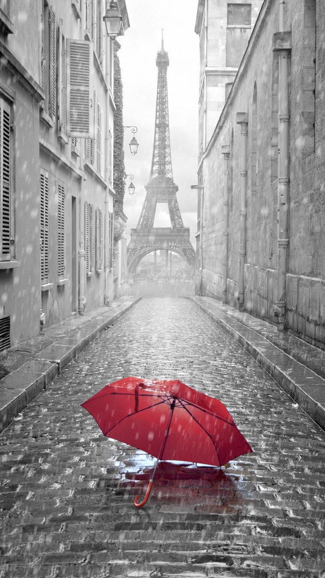 paris france rain eiffel tower iphone wallpaper iphonewallpapers pinterest paris. Black Bedroom Furniture Sets. Home Design Ideas