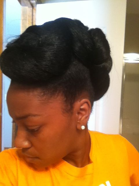 Updo for a special occasion.