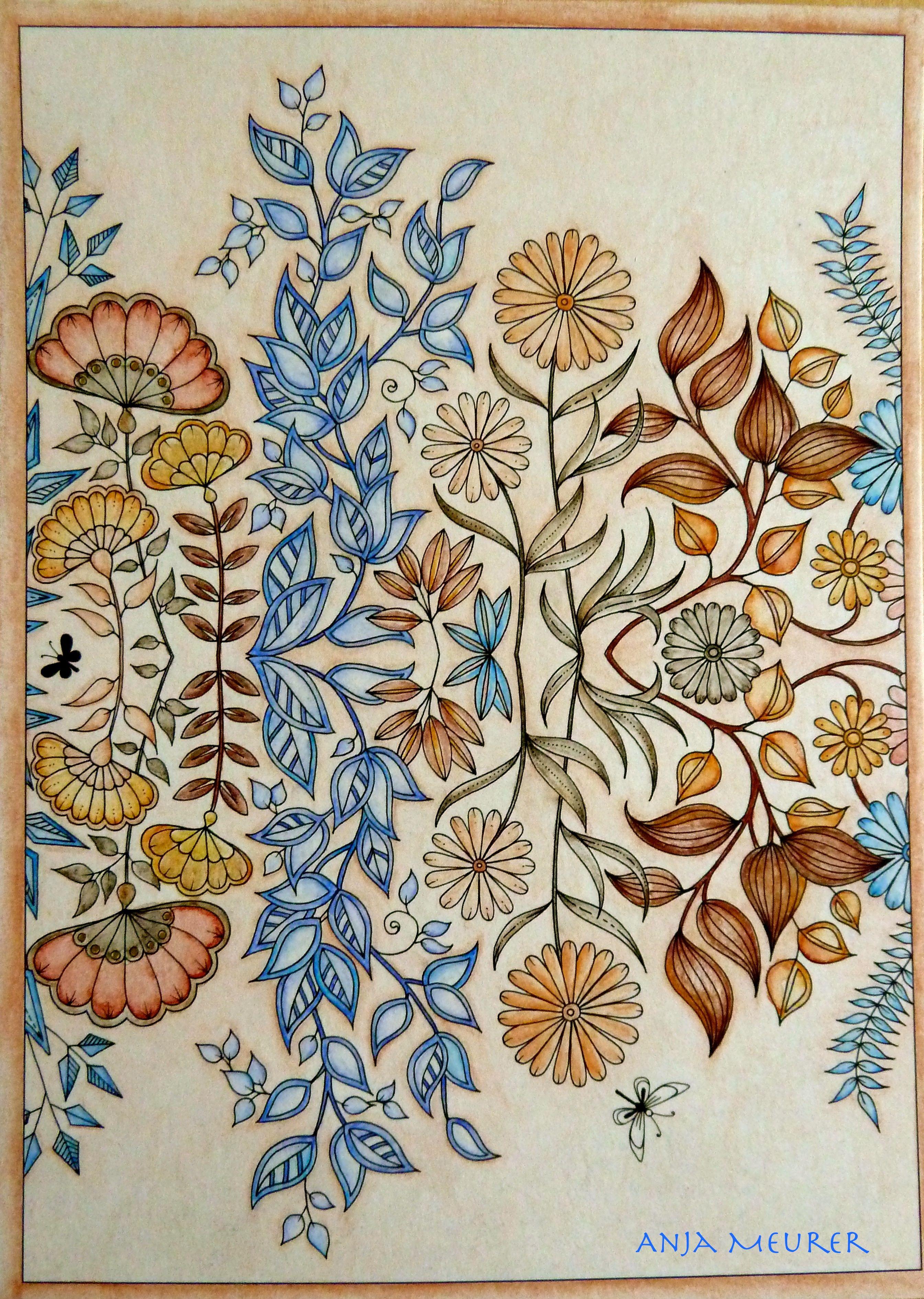 Picture From Johanna Basford Secret Garden Postcards Colouring Anja Meurer Secret Garden Colouring Johanna Basford Secret Garden Secret Garden Coloring Book
