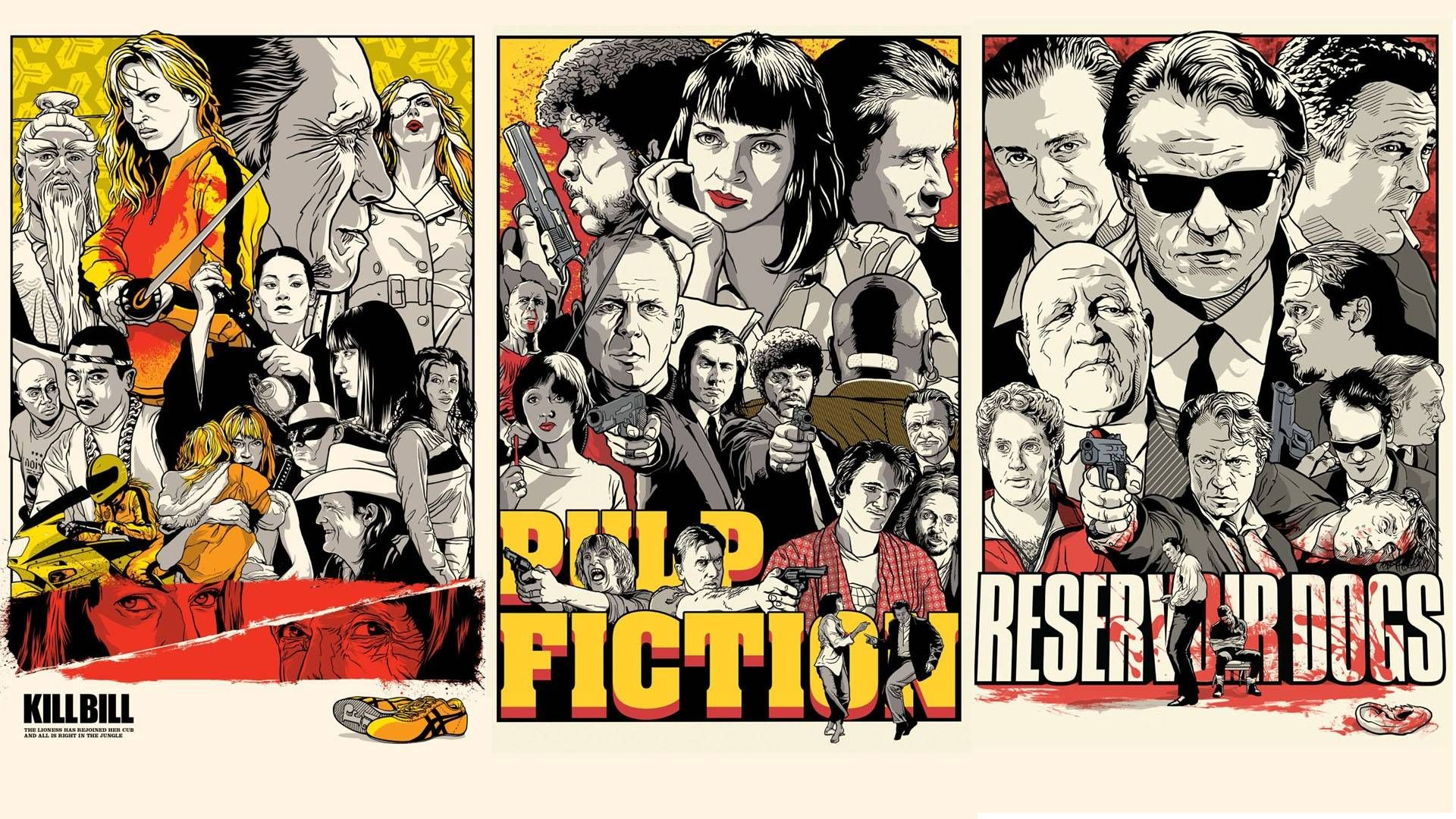 My Collection Of Movie Themed Wallpapers 60 Images Various Resolution Pulp Fiction Reservoir Dogs Quentin Tarantino Movies
