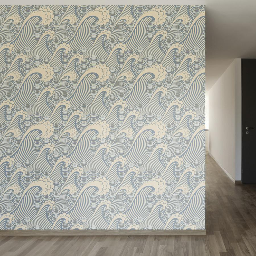 Waves Of Chic Waves Wallpaper Removable Wallpaper Chic Wallpaper