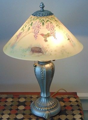 GORGEOUS! Hand Painted FENTON Glass Shade HUMMINGBIRD LAMP Marked! https://t.co/eCFq82eXAp https://t.co/JBF8DaricA