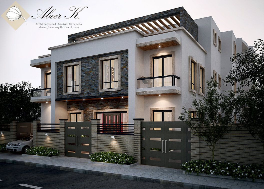 Exterior Redesign To A Villa In Cairo Amp Nbsp Design Modeling And Visualization By Me Amp Nbsp For The Interior House Exterior Architecture Exterior Design