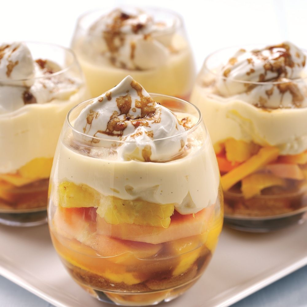 Strawberry Mango Trifle: Pineapple Tropical Fruit Trifle