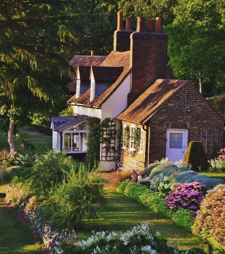Country Cottage Garden, Cottage Homes, Cottage