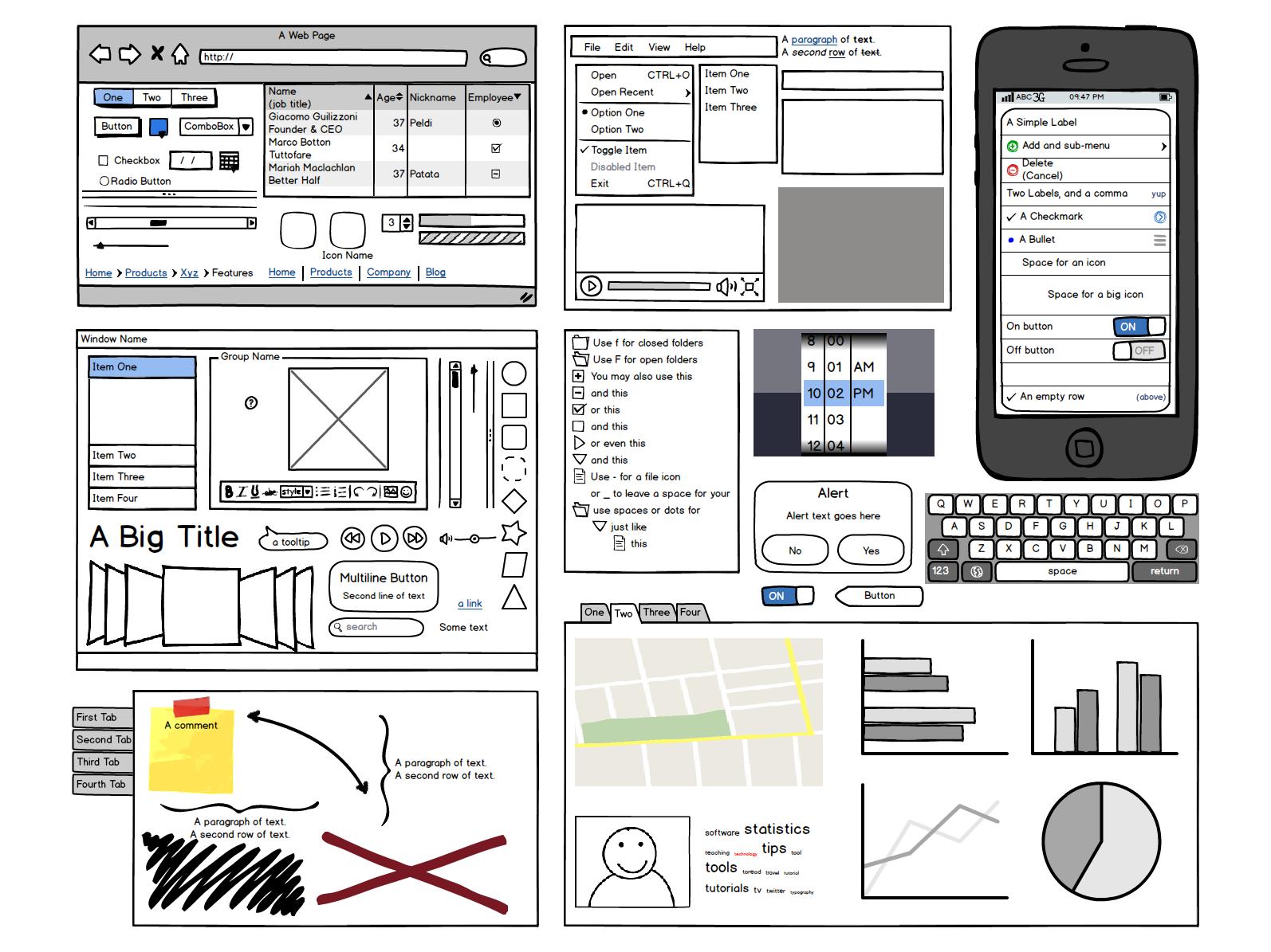 Balsamiq Mockups - Website Scribble Tool   WEB & APPtitlich ...