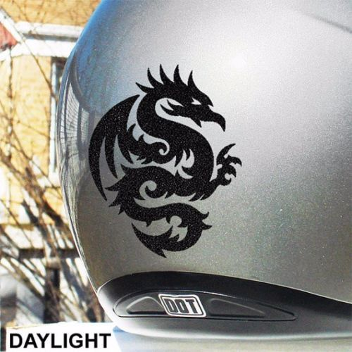 TribalDragonHyperReflectiveSafetyDecalForYourMotorcycleor - Vinyl stickers for motorcycle helmetsdragon hyper reflective decal motorcycle helmet safety sticker