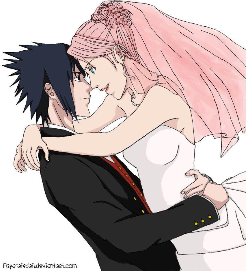 Новые картинки саске и сакура любовь