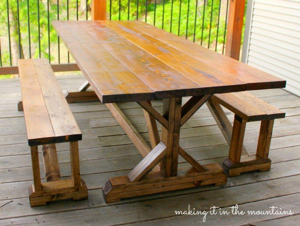 Tavolo Esterno Fai Da Te diy pottery barn inspired table | legno, sedie e altalena