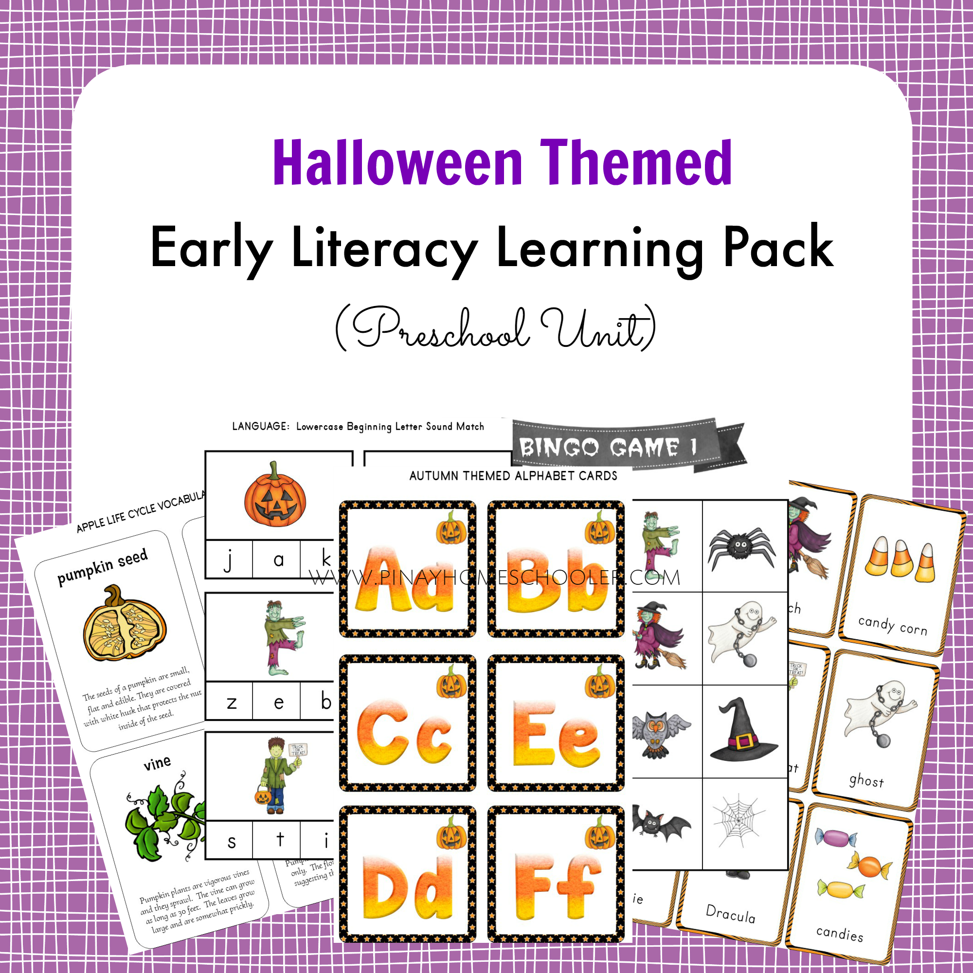 Halloween Themed Early Literacy Preschool Pack