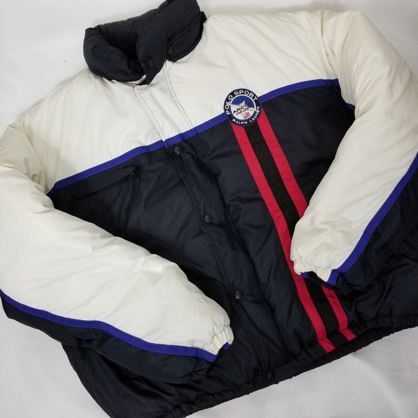 Vtg 90 S Ralph Lauren Polo Sport Arctic Challenge Puffer Jacket Men Large Ebay Puffer Jacket Men Rare Clothing Clothes [ 1600 x 1600 Pixel ]