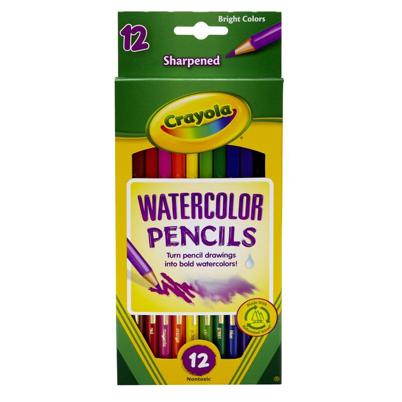 Watercolor Pencils 12ct Full Length Crayola Colored Pencils
