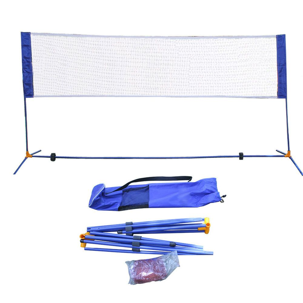 Advertisement Ebay 10 X5 Portable Height Adjustable Badminton Volleyball Tennis Net Set Equipment Badminton Nets Badminton Tennis Nets