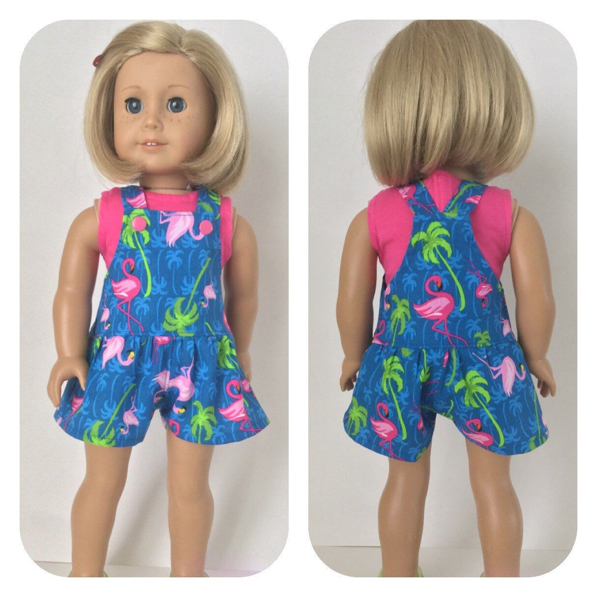 59112aa9f345 Flamingo fun! Cool short-alls to finish out the summer and head back ...