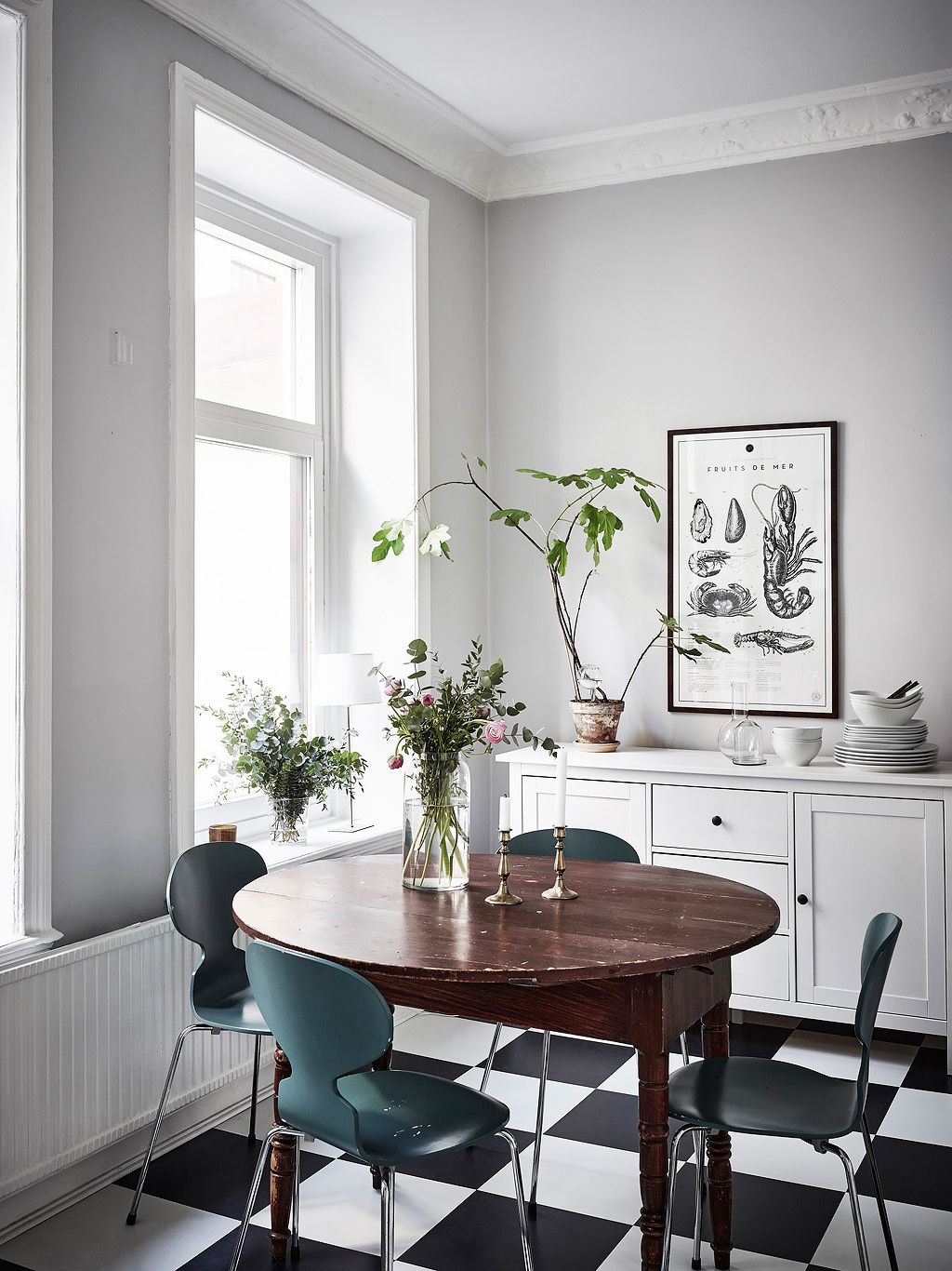 Le Dimanche C Est Scandinavie Planete Deco A Homes World Vintage Dining Room Apartment Dining Room Dining Room Inspiration